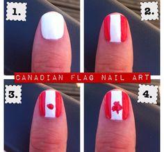 Canadian flag nails