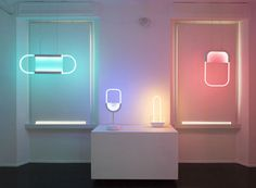 giorgia zanellato neon mirage collection galleria luisa delle piane designboom