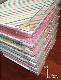 Paper trays for scrapbook paper available