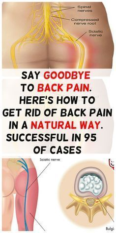 SAY GOODBYE TO BACK PAIN. HERE'S HOW TO GET RID OF BACK PAIN IN A NATURAL WAY. SUCCESSFUL IN 95% OF CASES