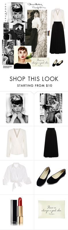 """""""Audrey."""" by minni15 ❤ liked on Polyvore featuring Elizabeth and James, Yves Saint Laurent, Johanna Ortiz, Chanel, Ben's Garden and Hedi Slimane"""