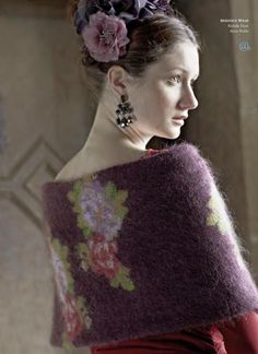 Rowan Magazine From the story, Romancing, comes the Berenice Wrap designed by Marie Wallin using Kidsilk Haze. Magazine Crochet, Knitting Magazine, Rowan Knitting Patterns, Hand Knitting, Wrap Pattern, Looks Cool, Tweed, Knit Crochet, Floral