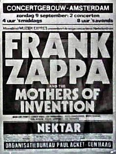 9.9.1973; frank zappa and the mothers of invention - nektar; ndl, amsterdam, concergebouw; (db)