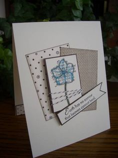 Simple Sympathy Flower by stampin'nana - Cards and Paper Crafts at Splitcoaststampers