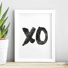 XO hugs and kisses http://www.amazon.com/dp/B016MS9A7M   inspirational quote word art print motivational poster black white motivationmonday minimalist shabby chic fashion inspo typographic wall decor