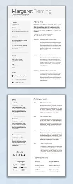 Resume Layout Microsoft Word Resume Template Cv Template Professional Resume Cover Letter .