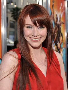 @Abbi Frye I think you should go with her BANGS and do red lowlights!!