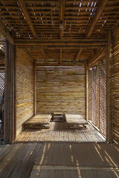"""architecture contemporaine : """"Blooming Bamboo Home"""", H&P Architects… Bamboo Architecture, Vernacular Architecture, Sustainable Architecture, Architecture Details, Interior Architecture, Interior Design, Wc Decoration, Bamboo House Design, Bamboo Building"""