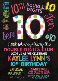 Happy 10th Birthday, 10th Birthday Parties, 1st Birthdays, Girl Birthday Themes, Birthday Banners, Girls 9th Birthday, Birthday Dates, Farm Birthday, Birthday Stuff