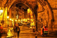 Night in Prague by Guido Pontani, via Behance