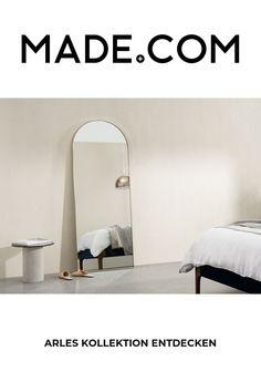 Leaning Floor Mirror, Leaner Mirror, Loft Room, Messing, Home Furnishings, Cushions, Brass, Curtains, Flooring