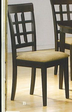 SET OF 4 CHAIRS IN A RICH CAPPUCCINO FINISH - http://www.furniturendecor.com/set-of-4-chairs-in-a-rich-cappuccino-finish/ - Categories:Dining Chairs, Dining Room Furniture, Furniture, Home and Kitchen