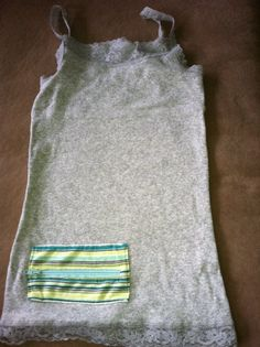 Insulin Pump Pocket Tank Top  Grey Tank with Multi by RyleesPocket, $20.00