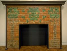 Grueby tile fireplace suround....Pretty.