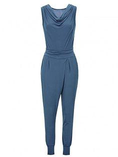 #Laeticia #Dreams #Damen #Jumpsuit #Catsuit #Einteiler #Hose #Wasserfall #Overall #S #M #L #XL, #Farbe:Jeansblau