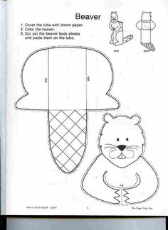 toilet paper roll beaver craft to make on National Beaver Day - April 7 Animal Crafts For Kids, Toddler Crafts, Crafts For Teens, Scout Activities, Craft Activities, Preschool Crafts, Canada Day Crafts, Beaver Scouts, Canadian Animals