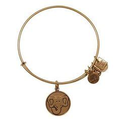 Alex and Ani The Elephant Charm Bangle Bracelet - Rafaelian Gold Finish - Item 19320308
