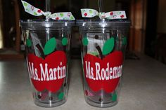 16oz Personalized Acrylic Tumbler for Teacher by jaylillie on Etsy, $13.00