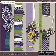 cluster borders for scrapbook layouts - Google Search