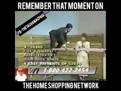 Shopping network ladder fail - YouTube