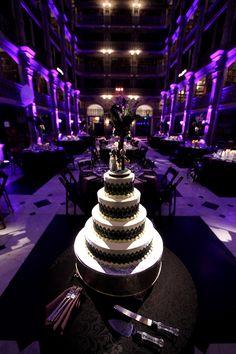 Black and Purple Baltimore Wedding Cake