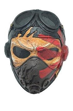 Airsoft Paintball CS Full Face Wire Mesh Protection Kamikaze Mask Halloween