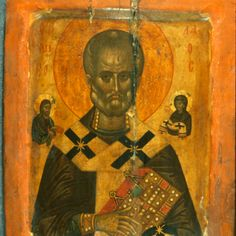 Saint Nicholas · The Sinai Icon Collection Byzantine Icons, Byzantine Art, Paint Icon, Santa Pictures, Russian Icons, Best Icons, Saint Nicholas, Icon Collection, Religious Icons