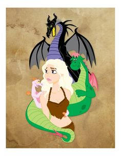 I love that Figment is one of the Khaleesi's dragons.  Mona Calentine's Mother of Dragons