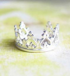 Sterling Silver Princess Crown Ear Cuff by SimplicityCharms