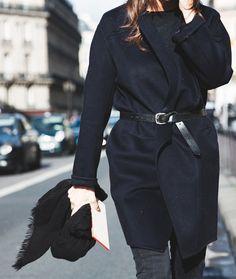 belt + chunky coat