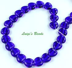 Excited to share the latest addition to my #etsy shop: 25 Cobalt Czech Pressed Glass Heart Beads 8x8mm https://etsy.me/2H3DykD #supplies #blue #beading #czech #heart #glass #bead #beads #cobalt