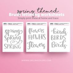 Brush lettering worksheets- 9 words to practice! Brush Lettering Worksheet, Tattoo Lettering Fonts, Doodle Lettering, Calligraphy Fonts, Improve Your Handwriting, Letter Worksheets, Social Share Buttons, Tracing Letters, Lettering Tutorial