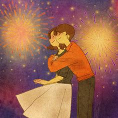 """♥ FIREWORKS ~  """"It's so beautiful--like flowers blooming in the sky...""""  ♥  by Puuung  https://www.facebook.com/puuung1?fref=ts  ♥"""