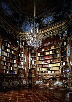 Library of Quirinale Palace , Rome , Italy