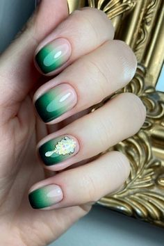 Purple Ombre Nails, Coffin Nails Ombre, Green Nails, Acrylic Nails, Ombre Nail Designs, Cool Nail Designs, Glitter Gel Polish, Hot Nails, Trendy Nails