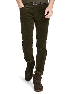 Purple Label Slim Stretch Corduroy Pant - Purple Label Shop All ...