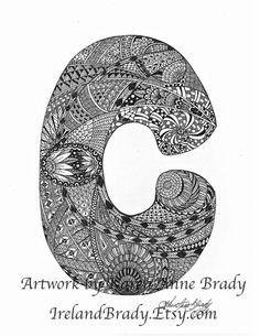 Free Printable Alphabet Letters Zen Tangle S