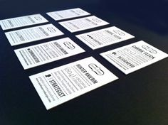 Black White Letterpress Business Cards2 500x373 Business Card Ideas and Inspiration #6