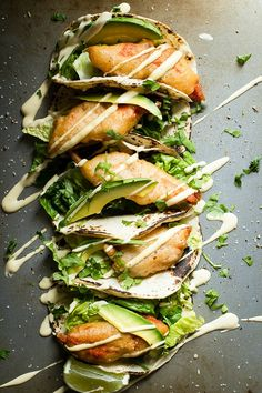 Crispy Salmon Fish Tacos - Foodness Gracious