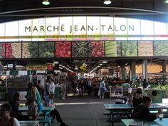 Jean-Talon Market - Huge awesome farm market - perfect for stocking up on yummy stuff to make in our hostel kitchen!