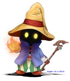 Chibi Vivi Ornitier from Final Fantasy IX by Mylphe on DeviantArt Fantasy Character, Game Character, Character Design, Deviantart Fantasy, Black Mage, Final Fantasy Ix, Gamers Anime, Fantasy Drawings, Manga