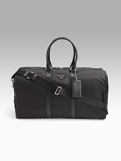 a8ed3899c416 ... purchase prada black nylon travel duffle bag travel style pinterest duffle  bags bag and purse 96540