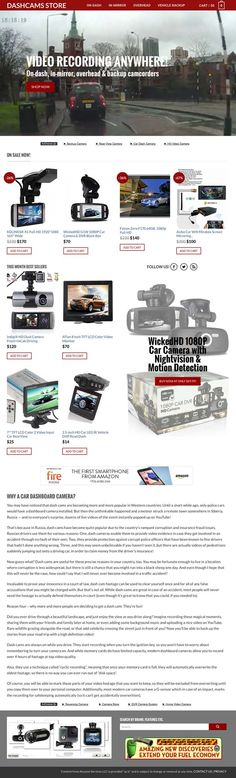 DASH CAMS store with products inventory - high growth niche Affiliate Websites, Car Camera, Dashcam, Cart, Banner, Cookies, Amazon, Vehicles, People