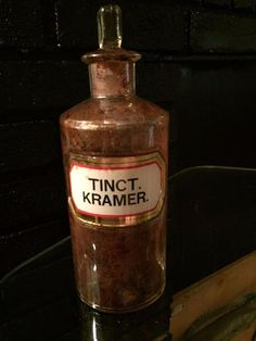 Vintage Chemist Bottle - Antique Apothecary - RARE Still Contains Tincture! #Unknown