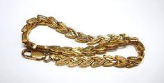 Vintage 14K Gold Bracelet / Chevron Design by WeBos on Etsy, $325.00