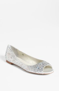Sparkly flats for walking on the sand