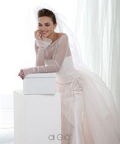 Powder pink bride dress, lot of chiffon! By  Le Spose di Giò