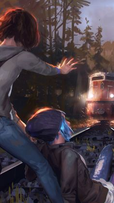 Max Caulfield and Chloe Price / Life is Strange Life Is Strange Wallpaper, Life Is Strange Fanart, Life Is Strange 3, Fullhd Wallpapers, Arcadia Bay, Dontnod Entertainment, Lesbian Art, Fan Art, Weird Art