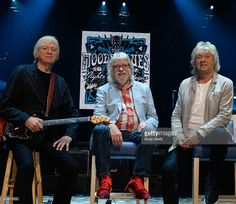 Singer/guitarist Justin Hayward, drummer/songwriter Graeme Edge and bassist/songwriter John Lodge of The Moody Blues attend a 'Jobs in Music' education event at The Venetian Las Vegas on October 11, 2016 in Las Vegas, Nevada.