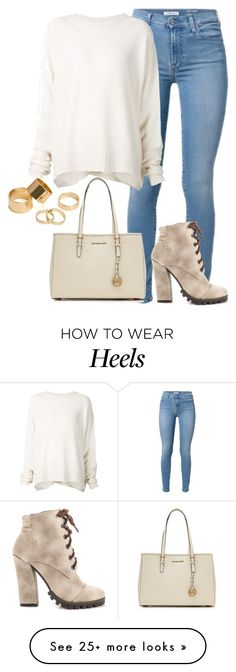 """""""naudia"""" by lovemelikeyourlast on Polyvore featuring MICHAEL Michael Kors, URBAN ZEN, Michael Antonio and Pieces"""